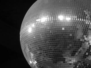 Disco night club ball black and white