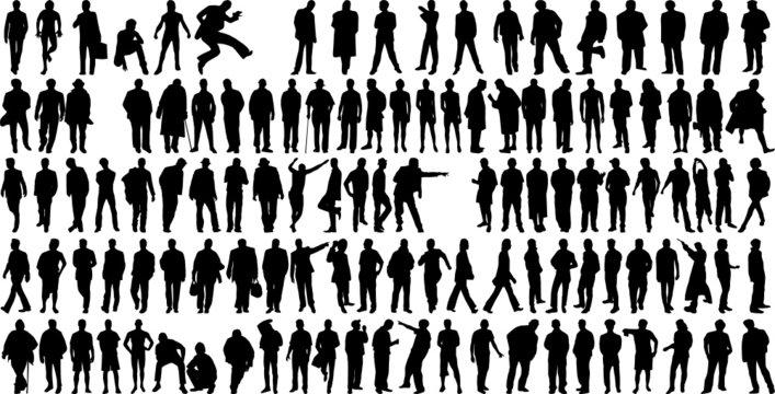 man silhouettes