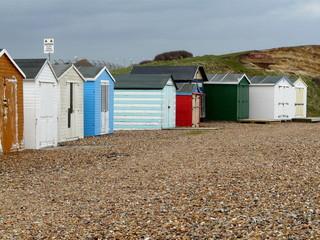 Beach Huts on Shingle