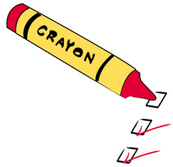red crayon with to do boxes checked