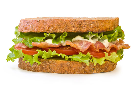 BLT Sandwich isolated on white