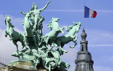 France; Paris; impressive sculpture at the grand palais