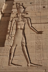 Carving of Horus at Philae