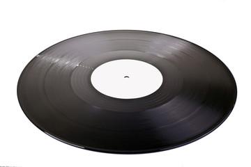 blank vinyl disc isolated on white background