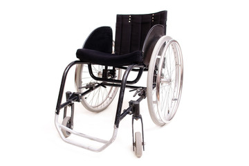 Active wheelchair isolated on white