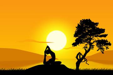 Fototapete - yoga