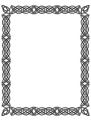 black border with celtic ornament 1