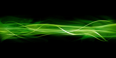 Abstract green wave texture