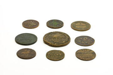 Old coins of Russian Empire