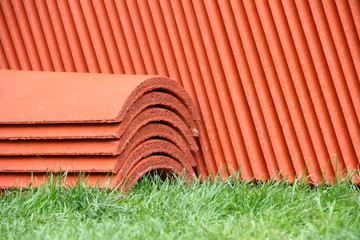 Stack of roof-tiles