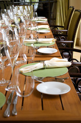 veranda restaurant seating area table setting
