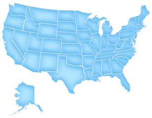 Carte Etats Unis Grain de Bleuté
