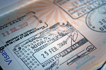 Tampon d'entrée au Guatemala