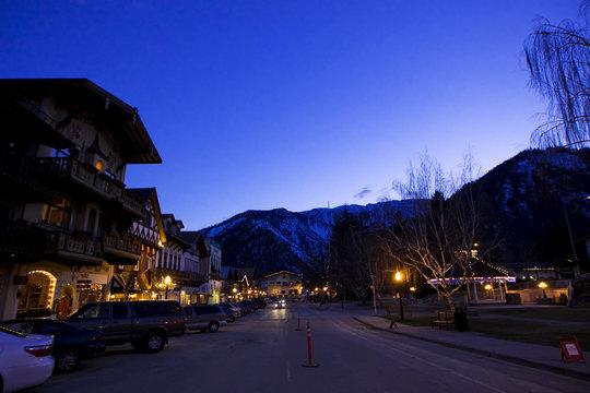 Leavenworth at dusk