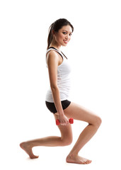 Exercise asian woman