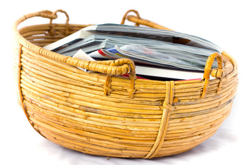 Basket filled with magazines