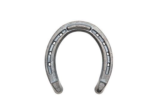 horseshoe closeup isolated on white