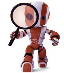 Orange Robot Detective SEO specialist