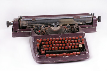 antique old cyrillic typewriter