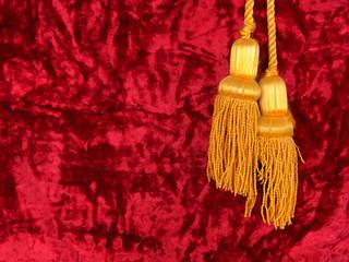 Red velvet with yellow tassels