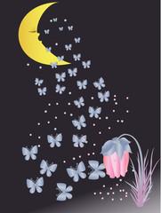 Dream before a dawn. Vector illustration