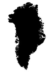 vector map of greenland