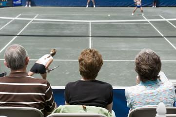watching tennis