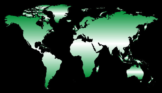 Map Globe Green (Europe centred)