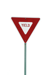 Isolated yield sign