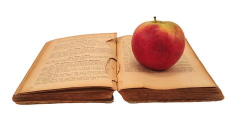 Cookbook with apple