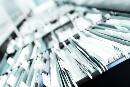 Piles of files