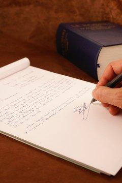 conclusion d'une lettre manuscrite