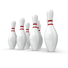 Bowling Pins in Formation 2