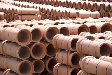 Clay Pipes at Factory
