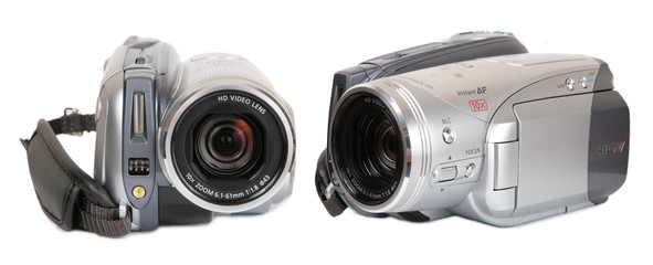 HDV video camera front view