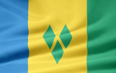 St. Vincent und die Grenadinen Flagge