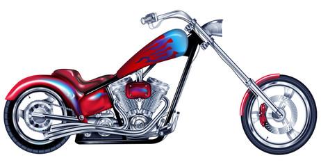 Custom Red Chopper