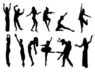 dancer isolated figure