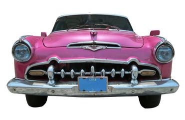 pink classic car - Cuba