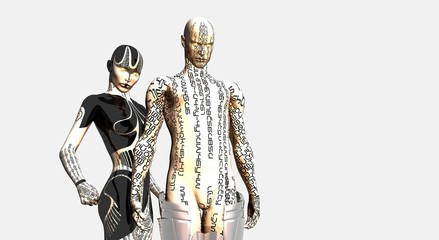 male and female android
