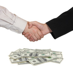 Handshake and money