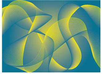 Abstrait Oscillations Lignes
