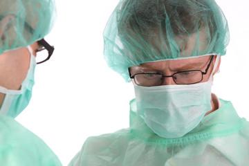 two surgeon at work
