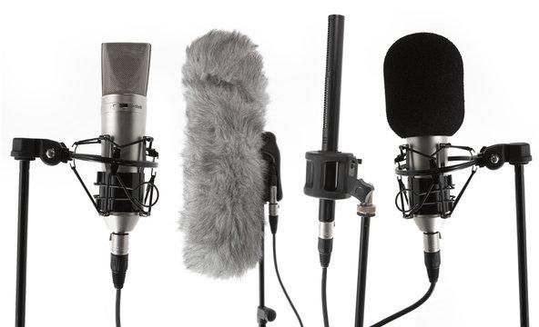 4 studio condenser microphones