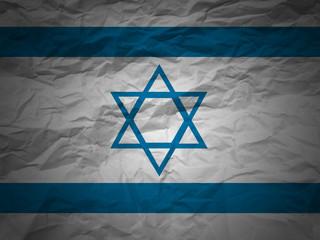 grunge background Israel flag