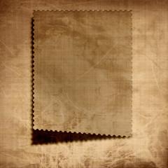paper postage stamp
