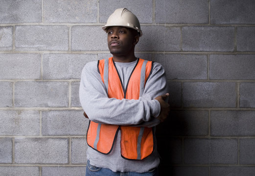 african-american construction worker