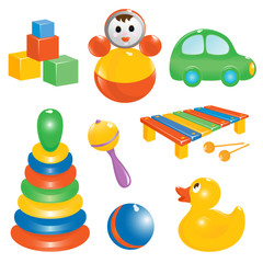 Baby toy icon set. Vector-Illustration