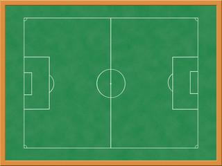 Illustration of tactics board in stadium changing room