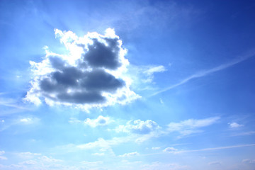Sommer Gewitter Wolke Heaven Cloud Storm Sun God